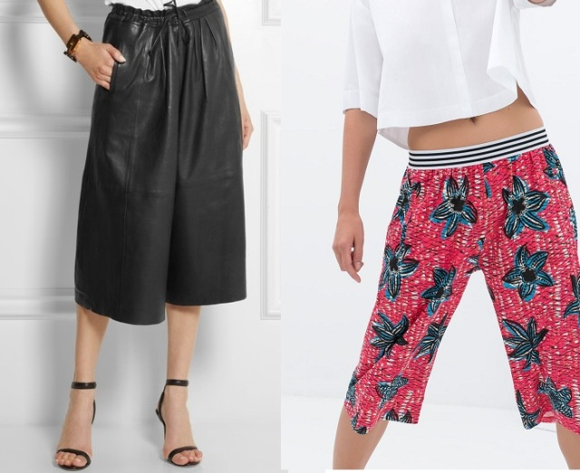 paul & joe and zara culottes